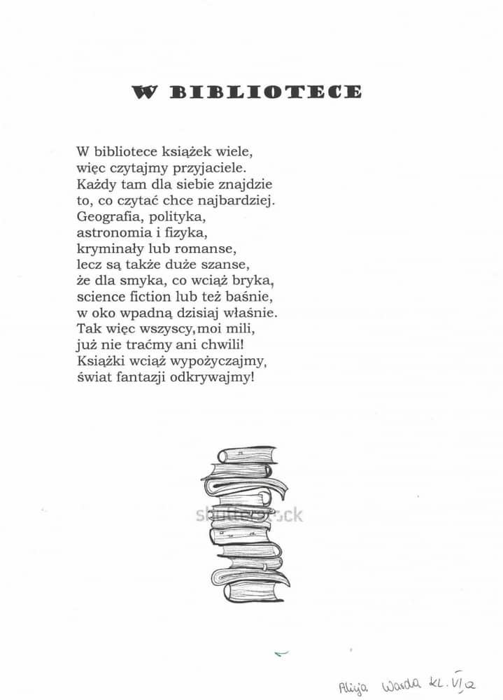 Wiersz Fraszka Rymowanka O Ksiąze O Bibliotece Gminna